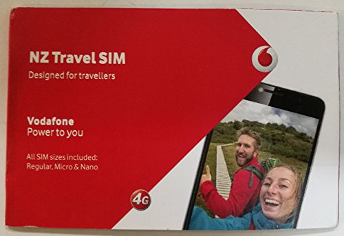 Vodafone Nz Travel Sim 3 Gb   200 Mins   200 Texts For 60 Days