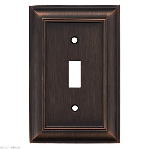 Allen + Roth 1-Gang Oil-Rubbed Bronze Standard Toggle Wall Plate Item # 139711