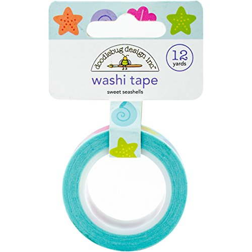 Doodlebug Washi Tape 15mm X 12yd-Sweet - Seashell Pant
