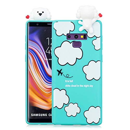 Galaxy Note 9 Case for Kids Girls Teen boy Guys, Tznzxm Funny 3D Cartoon Animal Character Design So Cute Lovely Soft Silicone Protective Scratch-Resistant Case for Samsung Galaxy Note 9 ()
