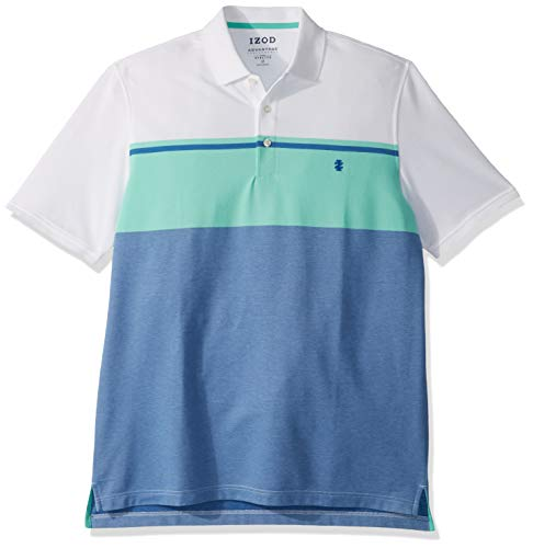 IZOD Mens Big and Tall Advantage Performance Short Sleeve Colorblock Polo