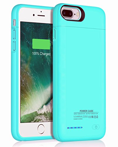 Battery Case for iPhone 7 Plus 8 Plus,JUBOTY 4200mAh Slim Rechargeable Protective Portable Charging Case for iPhone 8 Plus/7 Plus Juice Power Bank Battery Charger Case