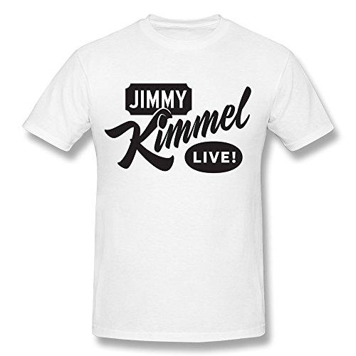 PASSION Men's Jimmy Kimmel T-shirt White L