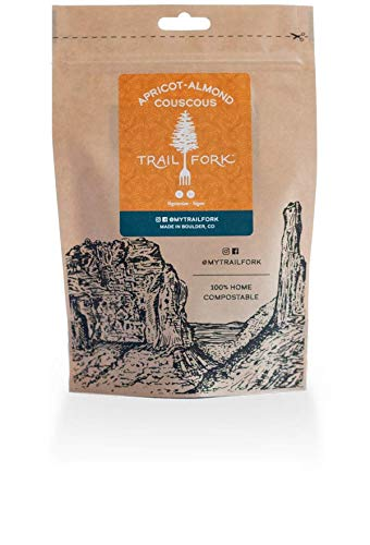 - TrailFork Apricot-Almond Couscous Dehydrated Just-add-Water Vegan Camping Backpacking Food