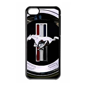 iPhone 5c Cell Phone Case Black Mustang Phone Case For Men Custom CZOIEQWMXN26591