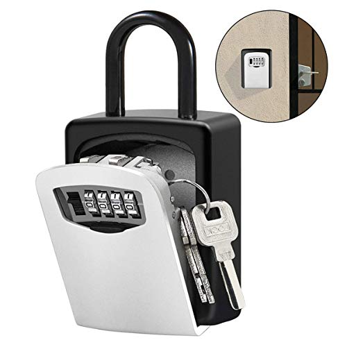 Kleidung & Accessoires Adaptable Key Lock Box Wall Mount Key Lock Box 4-digit Combination Key Storage Lock Box Weatherproof For Outdoor Indoor Durable In Use