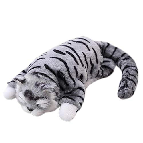 ThinIce Sound Control Plush Cat Stuffed Animal Interactive Cat Robot Toy, Walking Cat Toy for Baby Kids