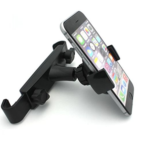 Price comparison product image Premium Car Headrest Mount Phone Holder Rotating Cradle Back Seat Entertainment Dock Black for MetroPCS iPhone SE - MetroPCS Coolpad Catalyst - MetroPCS HTC Desire 626s - MetroPCS LG Aristo