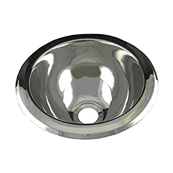 Opella 18085.046 10u0026quot; Round Drop In Or Undermount Bar Sink   Brushed  Stainless