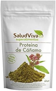 Proteína de cáñamo BIO 250 g, Salud Viva: Amazon.es: Hogar
