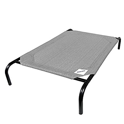 Coolaroo Pet Bed, Elevated Pet Bed, Raised, Cooling Washable, Indoor or Outdoor Dog Bed or Cat Bed, Large (L) (LG), Gray