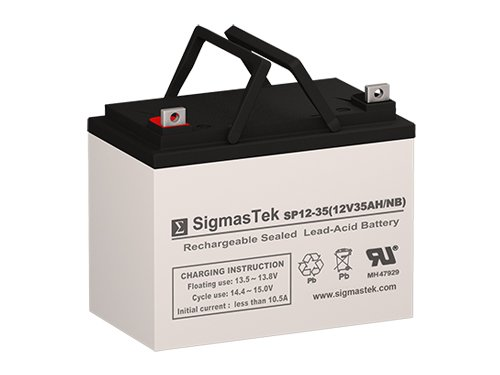 Tiger Battery - Husqvarna Scag Turf Tiger Replacement Battery - 12 Volt 35AH U1 AGM Battery with Nut & Bolt Terminal By SigmasTek