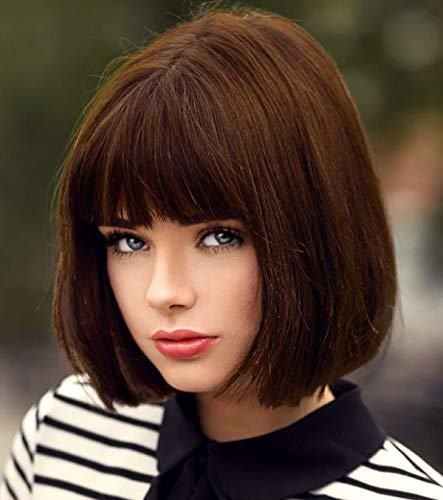 Short Brown Hair Wigs Bob Wig with