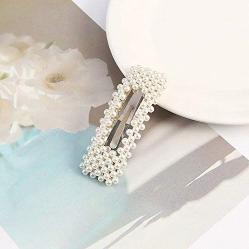 New Popular Womens hair accessories fashion pearl hairpin rhinestones (Style - 5#) - Nouveau Square Charm