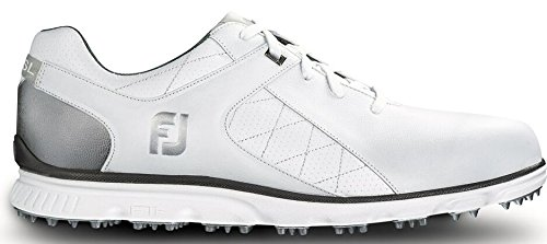 FootJoy Pro SL Golf Shoes - 53579 White/Silver - 8 Medium
