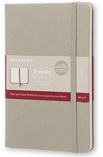 Moleskine Two-Go Textile Notebook, Hard Cover, Medium (4.5