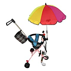 Style:Dasior-499 Umbrella Material: Silver tape Skeleton Material: Steel Package Included: 1 x Stroller Umbrella with Clamp Umbrella clip Removing: Unscrew the black sleeve, then pull out the connecting rod to the umbrella clampremoved