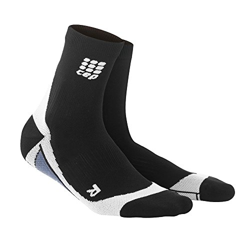 CEP Womens Dynamic+ Cycle Short Socks (Black/Grey) Size: II