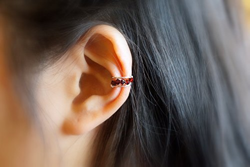 Beads Ear Cuff - Garnet Color ()