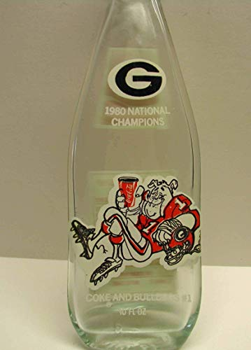 Upcycled UGA Bulldogs Football 1980 National Champions Flat Coca-Cola Bottle Coke Spoon Rest