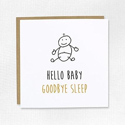 Hello Goodbye Dormir para Bebé New Baby - Tarjeta de ...