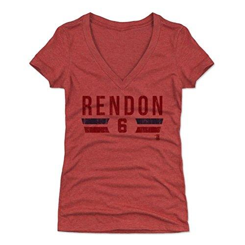 500 LEVEL Anthony Rendon Women's V-Neck Shirt XX-Large Tri Red - Washington Baseball Fan Apparel - Anthony Rendon Font R
