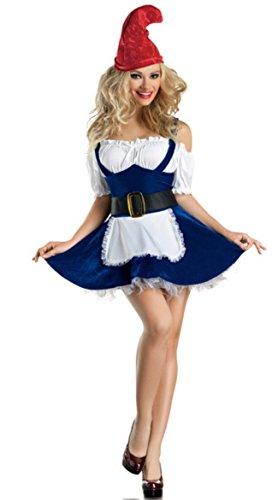 Deluxe Beer Wench Costume (Halloween Deluxe German Oktoberfest Cute Beer Girl Christmas Costume)
