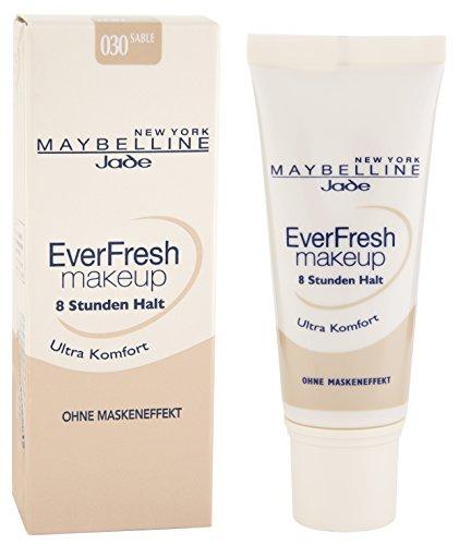Maybelline New York Make-Up EverFresh Sand 30 / Schminke in einem Hautfarbe-Ton für eine langanhaltende Abdeckung mit hohem Tragekomfort, 1er Pack (1 x 30 ml)