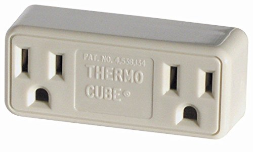 Farm Innovators Thermo Cube Thermostatically Controlled Outlet, TC-3, On at - Outlets On 45