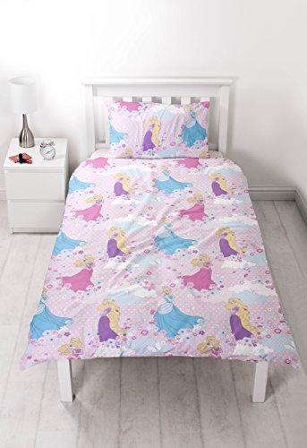 parure de lit princesses disney housse de couette lit 1 personne. Black Bedroom Furniture Sets. Home Design Ideas