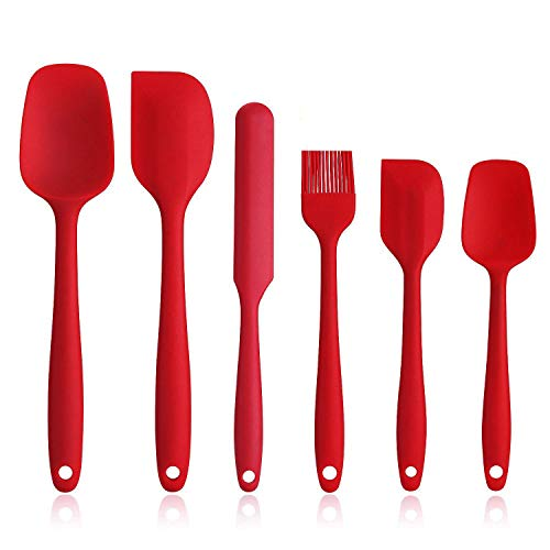 Silicone Spatula Set - 6 Piece Non-Stick Rubber Spatula Set with Stainless Steel Core - Heat-Resistant Spatula Kitchen Utensils Set for Cooking, Baking and Mixing - - Spatula Set