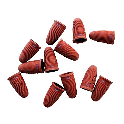 Finger Cots Rubber Extra Large Pack Of 12 by Grobet