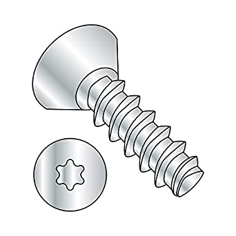 Star Drive 82 Degree Flat Head Zinc Plated Steel Thread Rolling Screw for Plastic Pack of 100 #4-20 Thread Size 1//4 Length