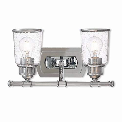 Livex Lighting 10512-05 Lawrenceville Polished Chrome 2 Light Bath Vanity,