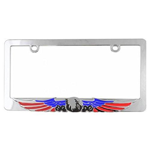(Custom Frames 92861 Chrome Decorated License Plate Frame (Patriot Eagle))