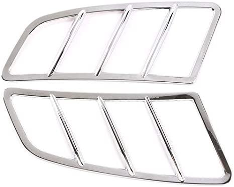 Oritech for Mercedes Benz SLK 2011 2012 2013 2014 2015 Hood Vent Moulding Frame Trim Engine Roof Grills Fin Bar Covers Glossy Silver