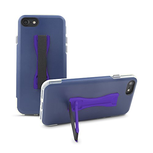 Gear Beast Cell Phone Grip Stand, Universal Phone Strap Finger Holder with Pop Out Kickstand for Men and Women, Ultra Slim Pocket Friendly - Purple