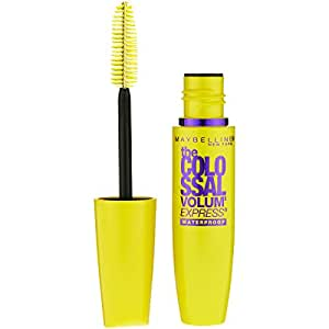 Maybelline Makeup Volum' Express The Colossal Waterproof Mascara, Glam Black Mascara, 0.27 fl oz