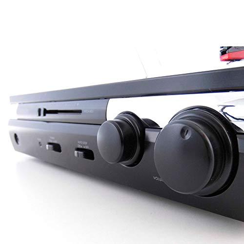 LAUSON CL611 Tocadiscos de Vinilo Vintage con USB, Altavoces Incorporados (Negro)