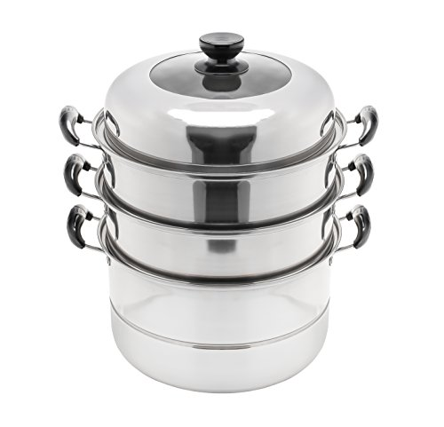 Concord 3 Tier Stainless Steel Steamer Cookware Pot (32 CM)