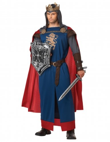 Little Richard Costume (California Costumes Men's Richard The Lionheart Adult, Blue/Red,)