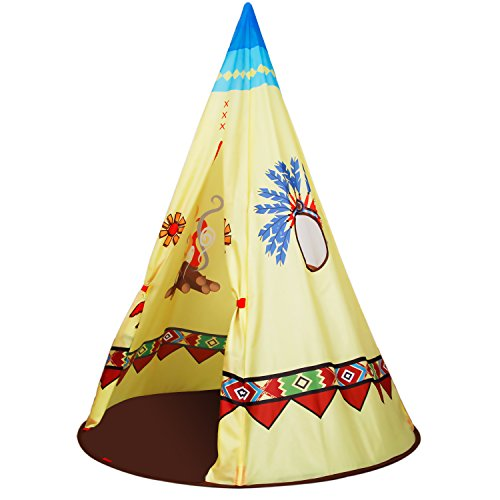 Hot Homfu Kids Teepee Play Tent Perfect Gift For Girls Boys Indian Playhouse For Children
