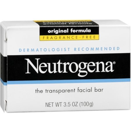 Neutrogena Original Formula Fragrance Free Transparent Facial Bar 3.5 oz (Pack of 6)