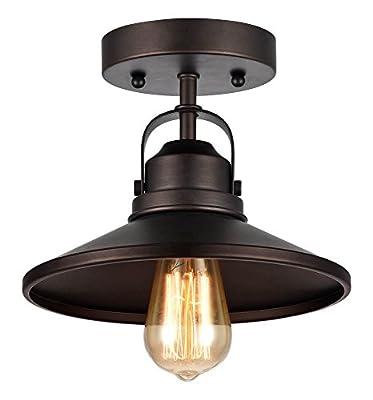 1-Light Industrial-Style Semi-Flush Ceiling Fixture