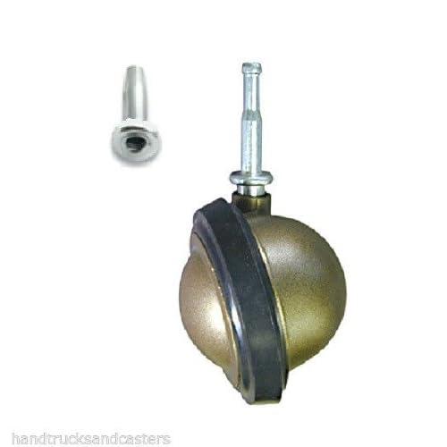 "(One) Shepherd Saturn Swivel Stem Caster 3"" Urethane Tread Wheel (Grip Neck Stem - 5/16"" ID) (3/8"" Socket) Windsor"