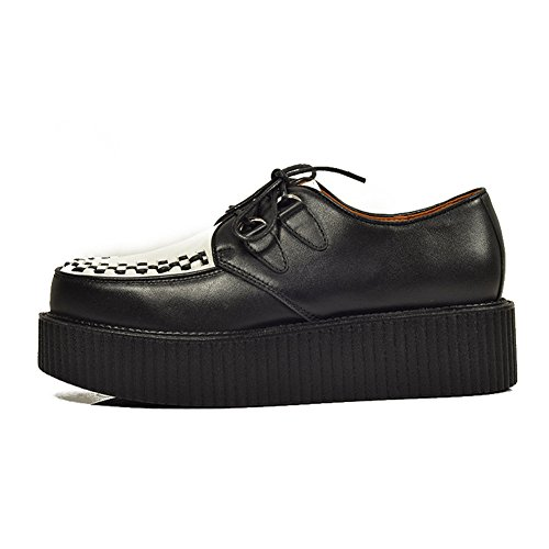 Plateaforme Lacets Casual Cuir Creeper Homme Oxfords Chaussures Punk qRE16xv