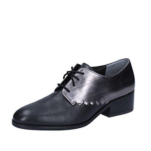 Donna 40 EU Nero Pelle What For Shoe Oxford Classiche wRIqU