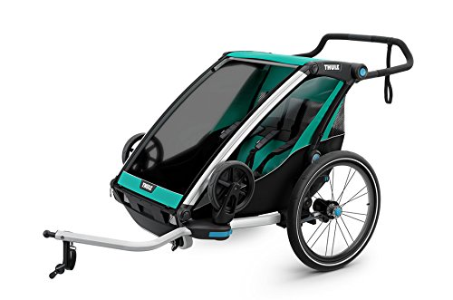 Chariot Bicycle Trailers - Thule Chariot Lite 2 + Cycle/Stroll, Blue Grass/Black