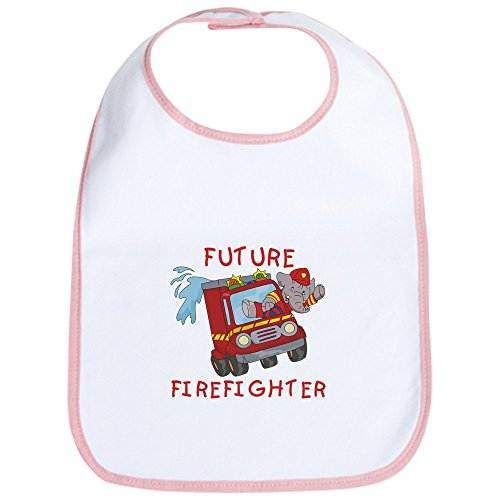 CafePress - Fire Truck Future Firefighter Bib - Cute Cloth Baby Bib, Toddler - Firefighter Bib Baby Future