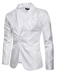 DGMJ Men's Floral Party Dress Suits Stylish Dinner Jacket XZ061